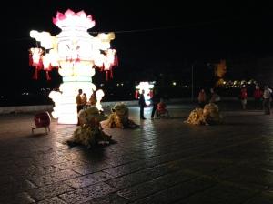 Lysfestivalinstallasjon i Cascais